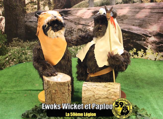 Ewoks Wicket et Paploo